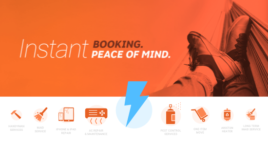 Instant booking for an instant peace of mind!
