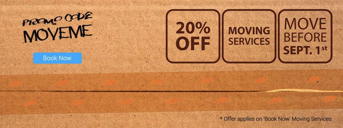 Moving 20 % discount offer