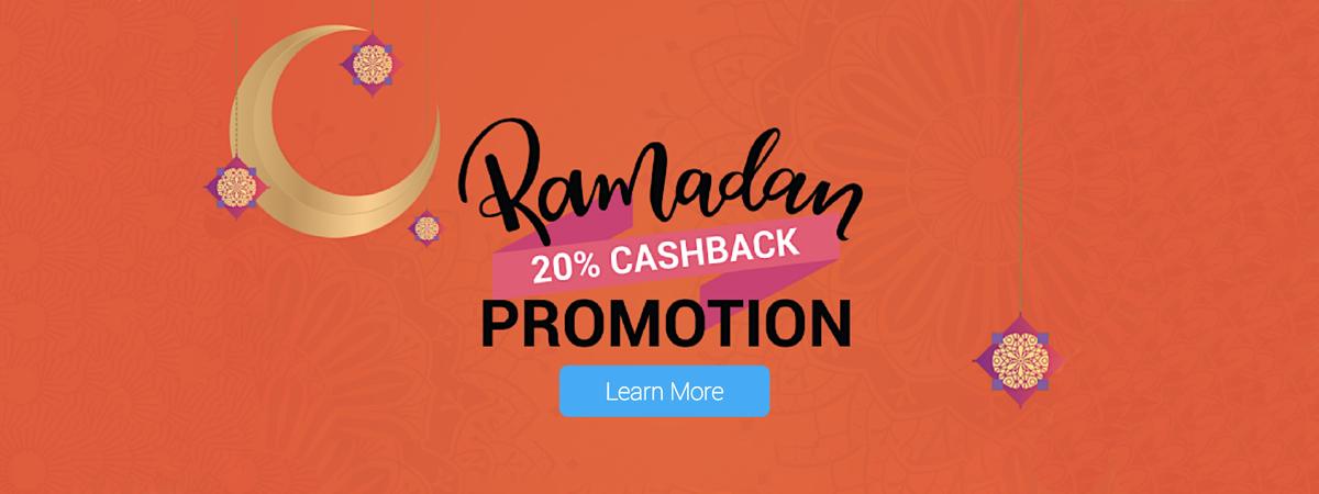 Ramadan 20 % cashback offer